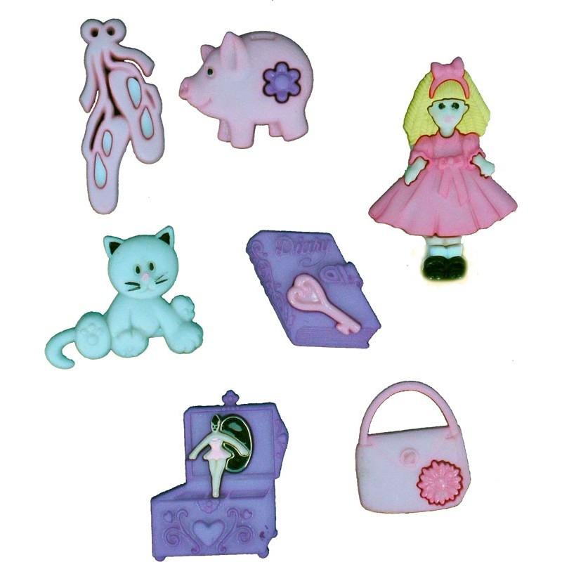 Botones Los accesorios de la niña