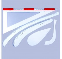 Kit Reglas de Modista de Plástico Flexible