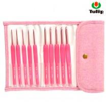 Set de ganchillos Tulip Pink Etimo Candy