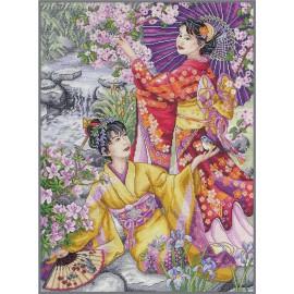 Kit Punto de Cruz - Geishas - Anchor Maia Collection