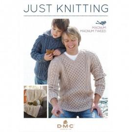 Revista DMC Just Knitting - Magnum & Magnum Tweed