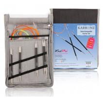 Austauschbare Rundstricknadeln Set KnitPro Karbonz Starter
