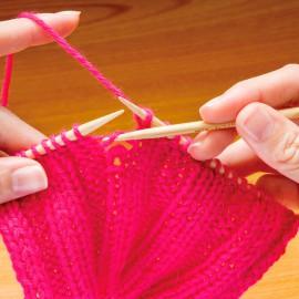Ganchillos de bambu para reparar puntos - Clover
