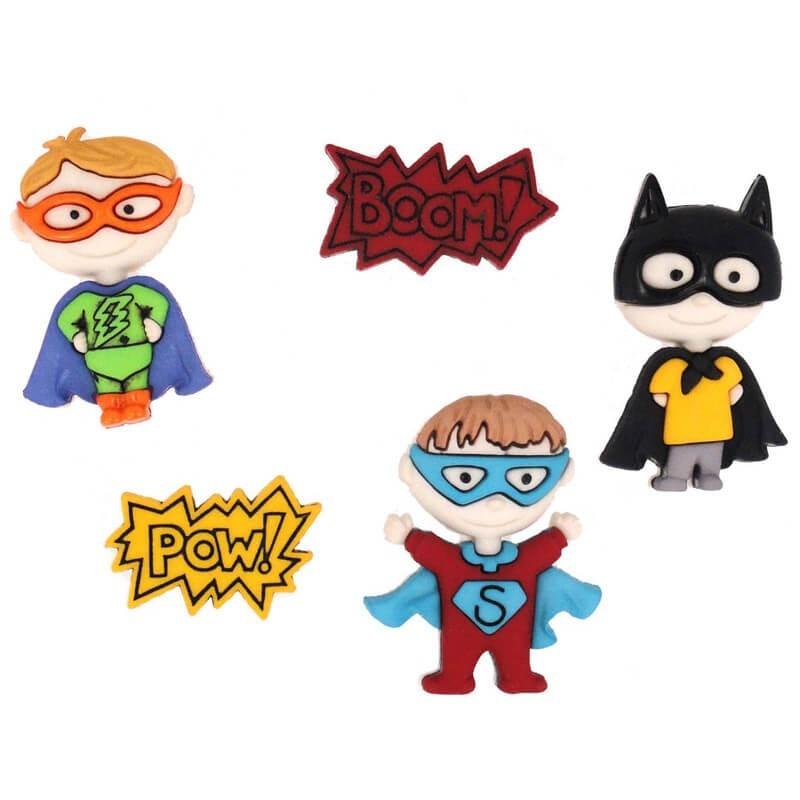 Botones Be My Super Hero - Dress It Up