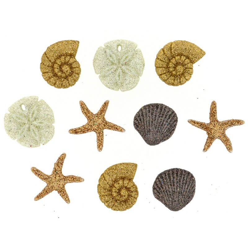 Botones Seashells At The Seashore - Dress It Up