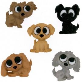 Botones Playful Puppies - Dress It Up