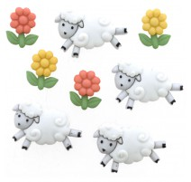 Botones Counting Sheep - Dress It Up