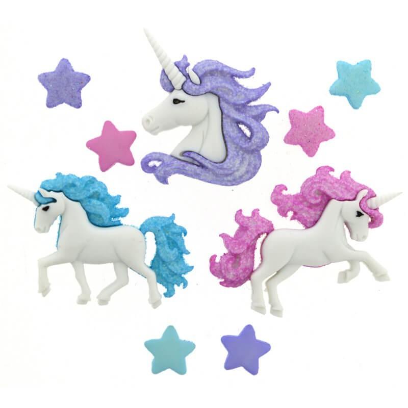 Botones Magical Unicorns - Dress It Up