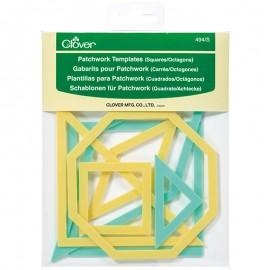 Plantillas cuadradas y octogonales para apliques y retazos - Clover