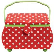 Costurero Grande Polka Dots Rojo y Blanco - Prym