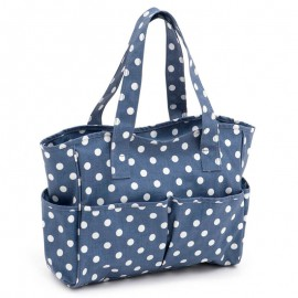 Bolsa de Labores de PVC - Denim Polka Dot