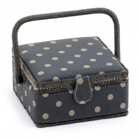 Costurero pequeno - Charcoal Polka Dot