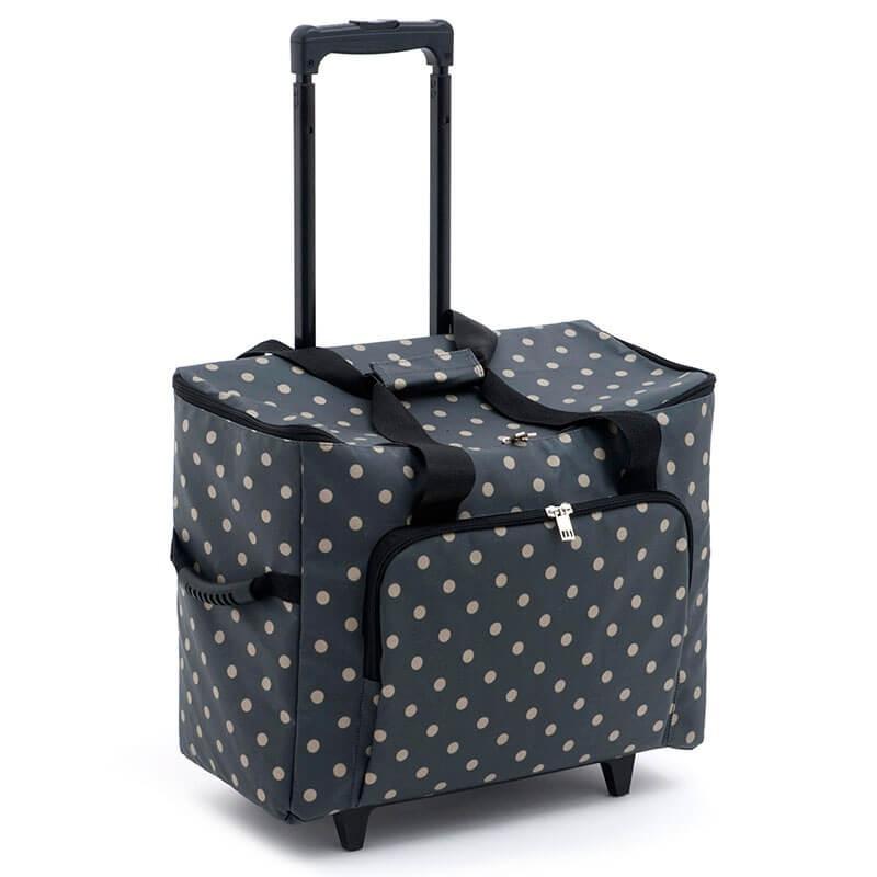 Mochila con ruedas - Charcoal Polka Dot