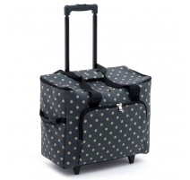 Rucksack Trolley - Charcoal Polka Dot