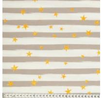 Baumwollstoff MezFabrics - Beach Days Stripes Taupe