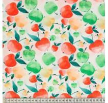 Baumwollstoff MezFabrics - Tutti Frutti Apple Bright