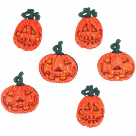 Botones Glitter Pumpkins - Dress It Up