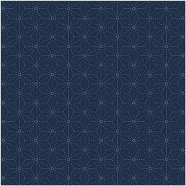 Stoff für Sashiko Dark Blue Stars - Rico Design