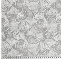 Baumwollstoff MezFabrics - Beach Days Shells Taupe