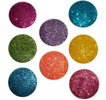 Botones Big Glitter Dots Brights - Dress It Up