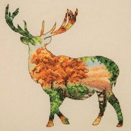 Kit Punto de Cruz - Stag Silhouette - Anchor Maia Collection