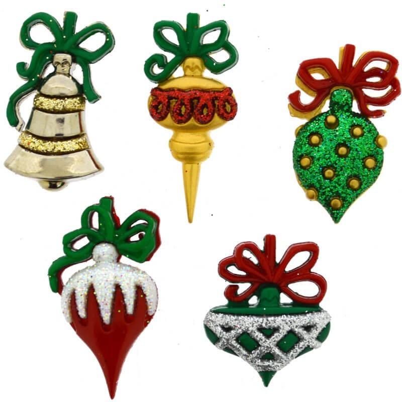 Botones Christmas Ornaments - Dress It Up