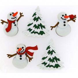 Botones Let It Snow - Dress It Up