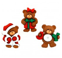 Botones A Beary Merry Christmas - Dress It Up