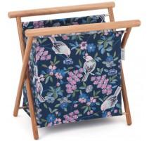 Korb für Strick- und Häkelprojekte - Floral Birds - groß