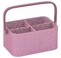 Korb für Häkel- und Strickprojekte - Rose Glitter