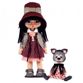 Kit de Costura Muneca - Girl with a Cat