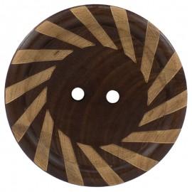 Boton de Madera Espiral