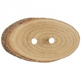 Ovaler Knopf aus Kiefernholz