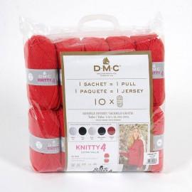 10 Knitty4 Knäuel für einen Pullover + Anleitung – DMC