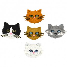 Botones Fuzzy Felines - Dress It Up