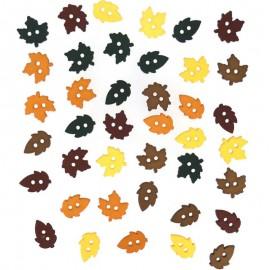 Botones Tiny Raking Leaves - Dress It Up