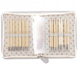 Set de Agujas Intercambiables Largas de Bamboo CarryC Tulip