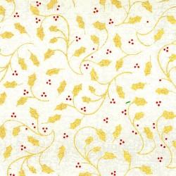 Baumwollstoff – goldene...