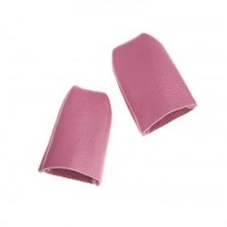 Pack 2 rosa Lederfingerhüte...
