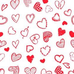 Baumwollstoff – Kleine Herzen