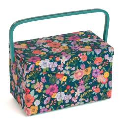 Nähkorb – Floral Garden Teal