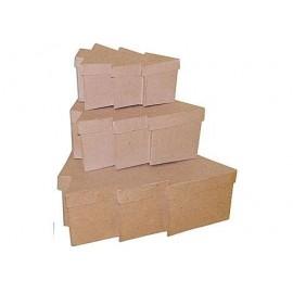 Set de 3 cajas papel maché árboles 18, 23 y 30cm