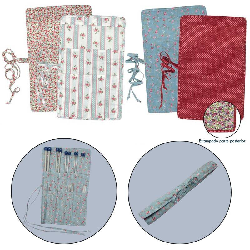Funda de tela para agujas de tricotar