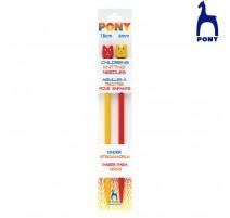 Stricknadeln für Kinder 18 cm - Pony