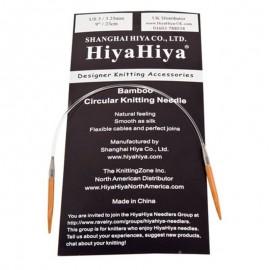 Agujas Circulares Fijas de Bambú HiyaHiya