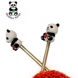 Maschenstopper in Panda-Bär-Form - HiyaHiya