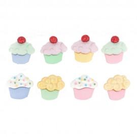 Botones Mini Pasteles Dulces